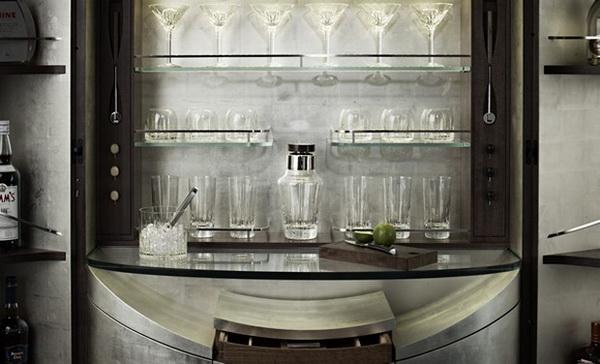 Винный бар Tectonic в стиле Джеймса Бонда