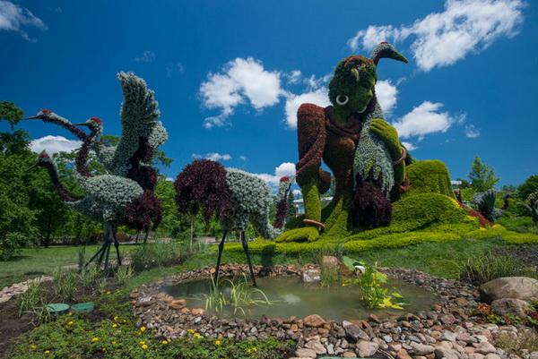 Mosaicultures Internationales: выставка зеленых скульптур