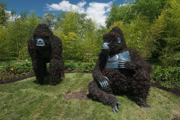 Зеленые скульптуры: выставка в Монреале