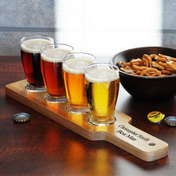 деревянный поднос для пива