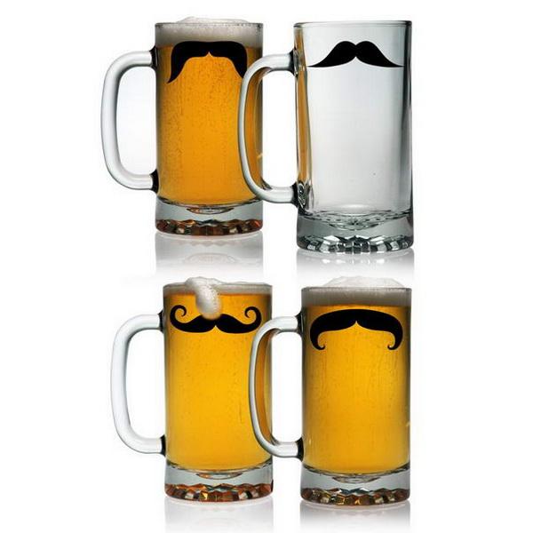 усатые бокалы для пива