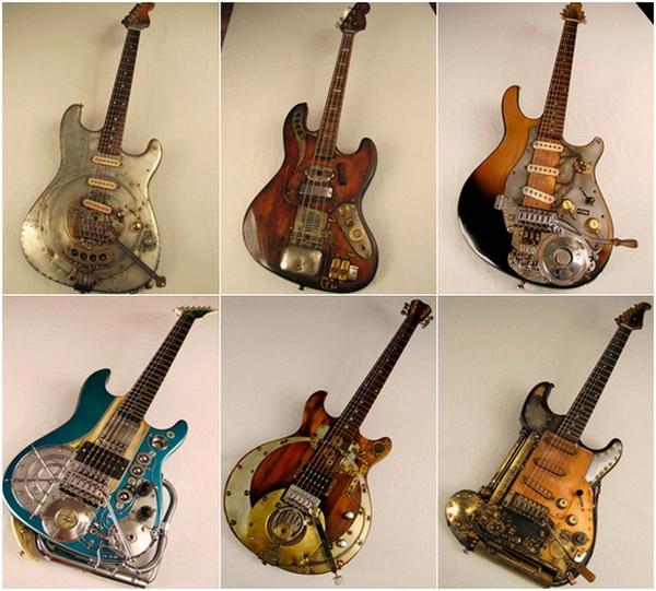 гитары в стиле Steampunk