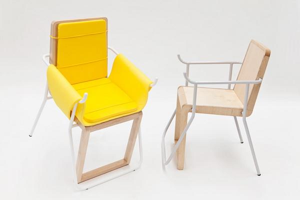 Удобный стул Assunta с дополнительной ножкой