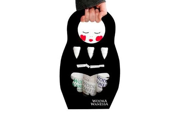 Матрешка-пакет для алкогольных напитков от Wodka Wanessa