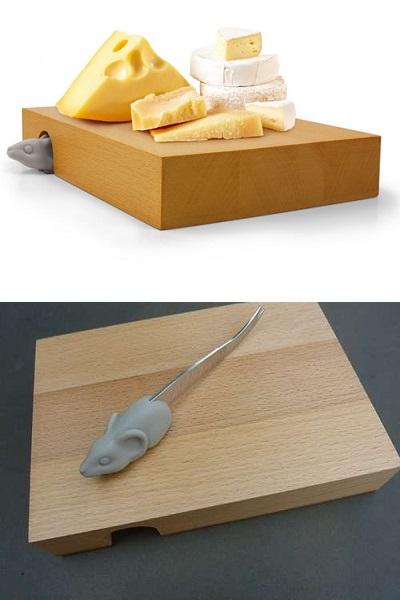 NIBBLED - забавная и удобная сырная доска от Liz Dubois