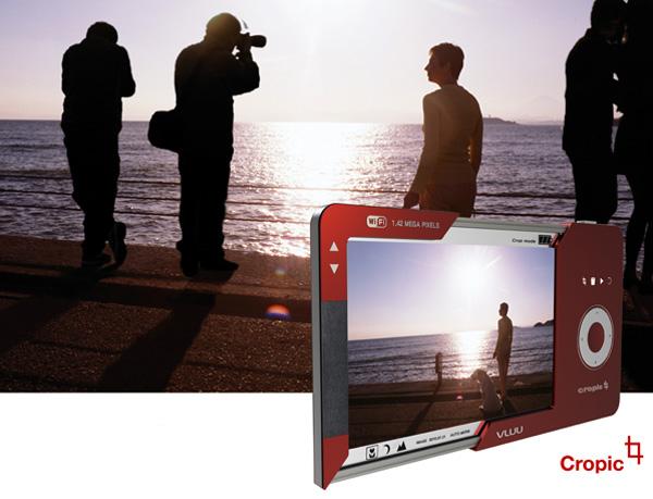 Концепт камеры Cropic со встроенным редактором