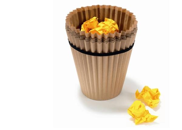 'Формочка для кекса' – креативный и удобный мусорный контейнер для бумаги