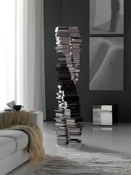книжный шкаф Milano в форме спирали