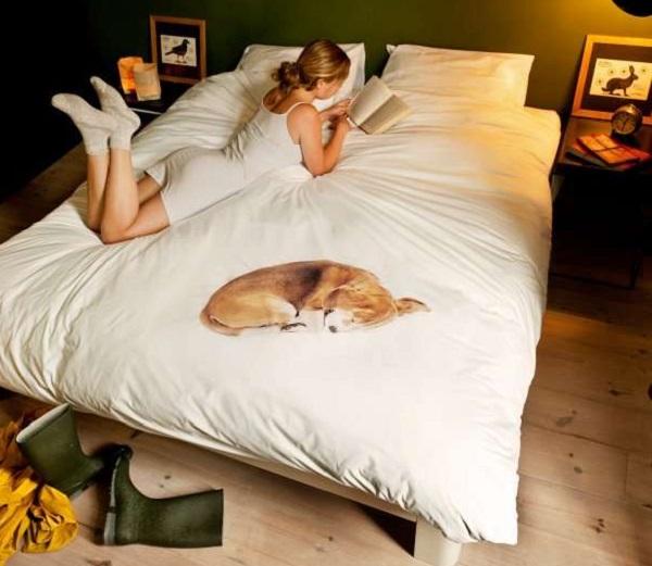 Snurk Bed Linen Bob - необычное постельное белье с фальшивой собакой для тех, кто чувствует себя одиноко