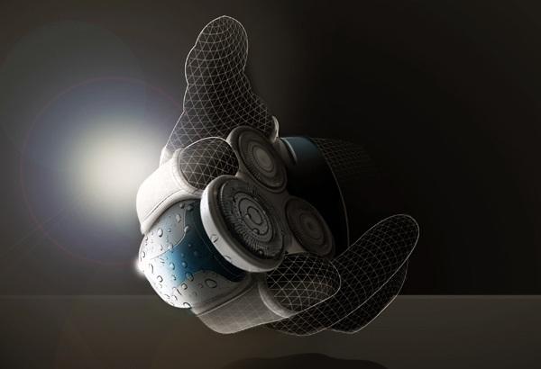 Концепт электробритвы-перчатки Embrace