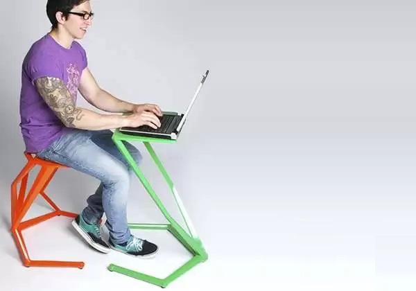 Ergo Stool & Table Set - креативная рабочая мебель для небольших офисных помещений