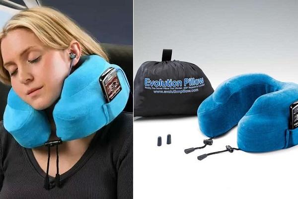 Evolution Neck Pillow - дизайнерская подушка для путешественников-меломанов