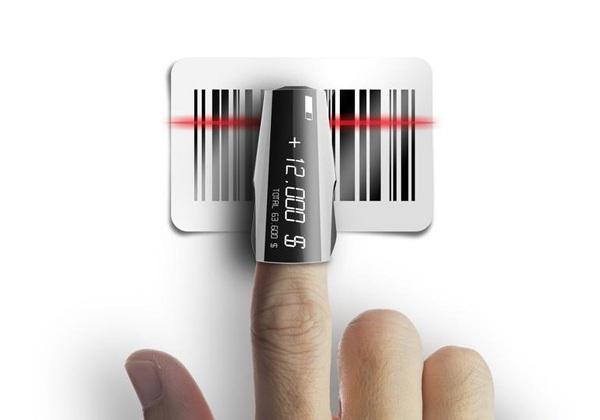 Концепт удобного сканера штрих-кодов Finger Scanner