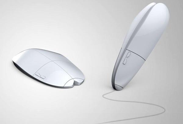 Концепт компьютерной мыши-трансформера Folding Pen Mouse
