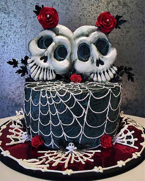 торт для новобрачных - зомби