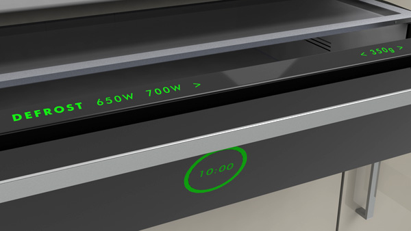 Передняя панель Innowave оснащена тач-скрином