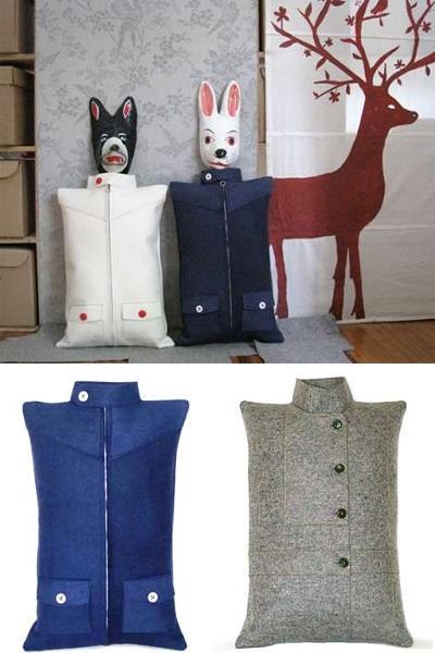 Jacket Pillows от Ximena Orozco - экологичные дизайнерские подушки для больших и маленьких