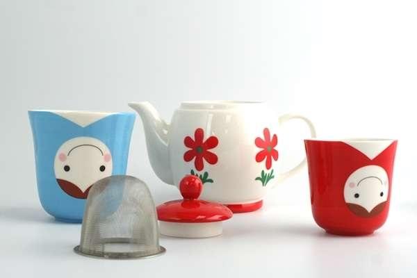 Чайный набор в виде матрешки Matryoshka Teapot