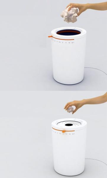 Mint-Pass Rubbish Can от Jongchul Kim – креативный мусорный контейнер, умеющий определять размер выкидываемых предметов