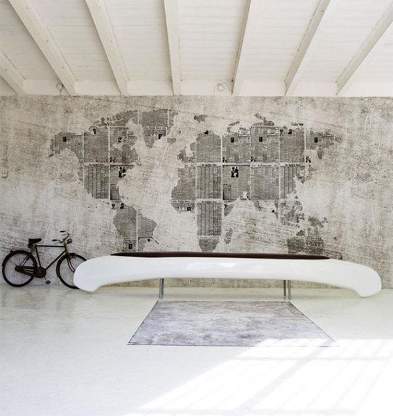 Карта мира на стене