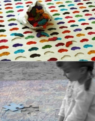 Игровые коврики из серии Pastylki carpet от Agnieszka Czop и Joanna Rusin