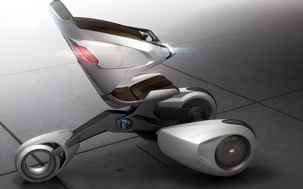 Концепт экологичного и экономичного городского транспорта Peugeot XB1