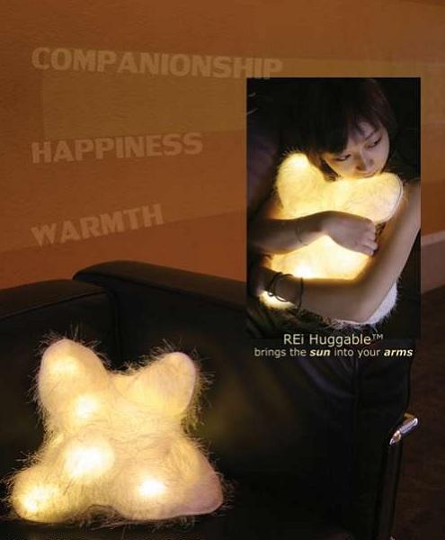 REi Huggable от Diana Lin Design LLC - дизайнерская подушка для тех, кому не хватает света