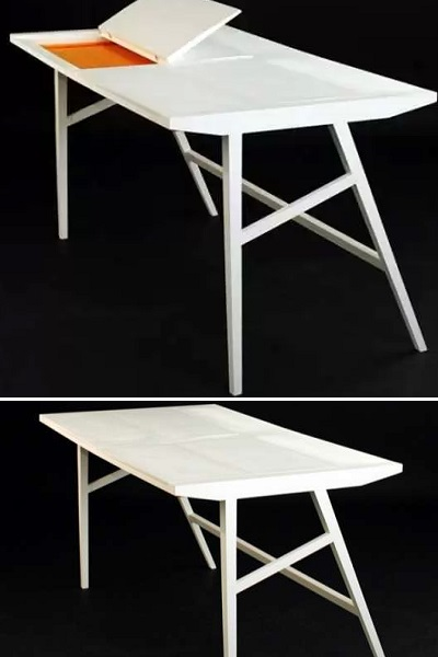 Rebwar Faille's Office Table - креативный рабочий стол с тайником для ноутбука