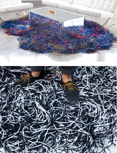 Коврик-'шнурки' от Nate Silverstein и Andrea Paustenbaugh