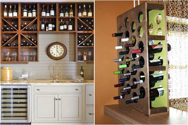 Широкий выбор стеллажей для хранения вина