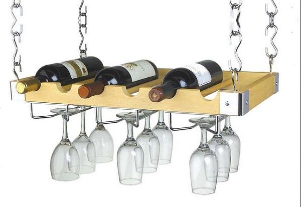 Подвесной стеллаж для вина