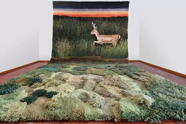 Пейзаж из ковра и гобелена от Alexandra Kehayoglou