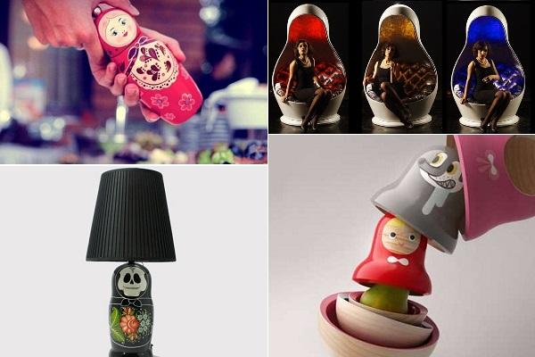 Образцы самых креативных и практичных предметов быта в форме матрешек