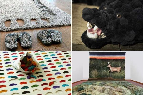 Дизайнерские ковры с необычным ворсом