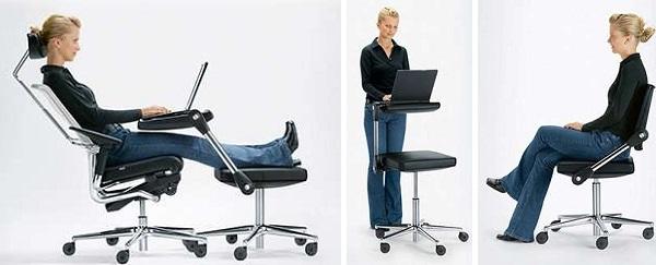 Mitos Mobile - рабочий стол, офисный стул и подставка для ноутбука