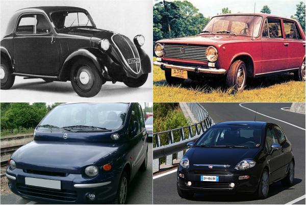 Обзор самых известных моделей Fiat