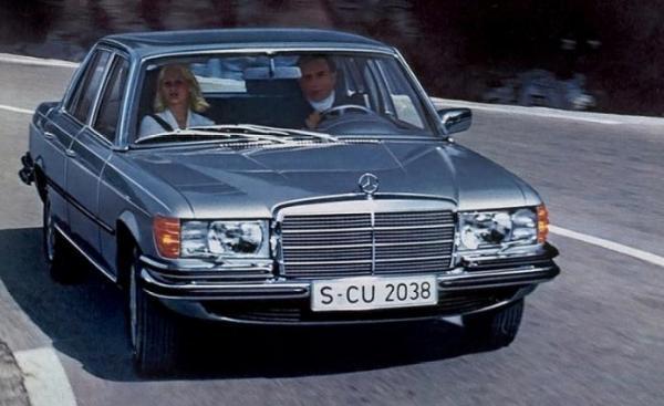 Первые модели седана S-класса