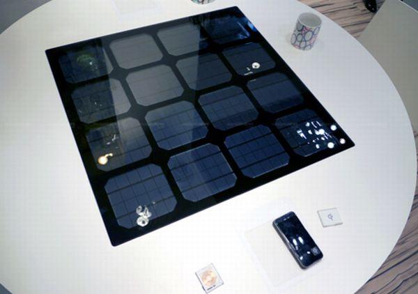 Зарядное устройство, встроенное в обеденный стол