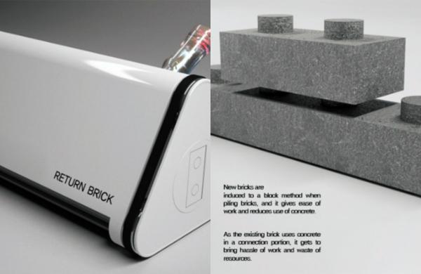Return Brick превращает строительный мусор в готовые бетонные блоки