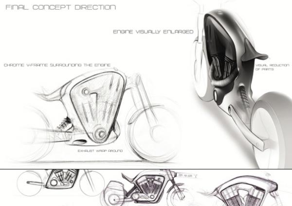 Корпус мотоцикла визуально увеличивает двигатель