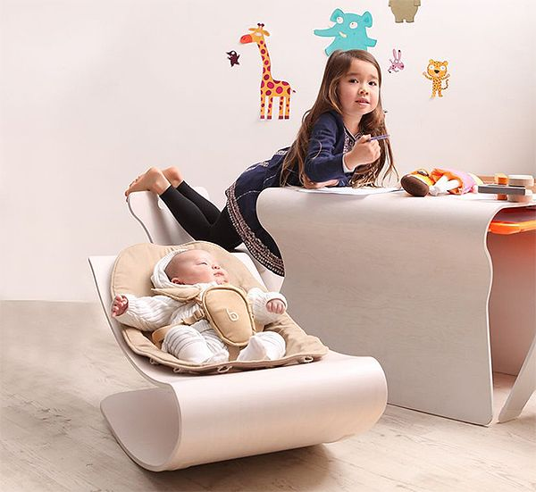 Bloom Coco Stylewood Baby Bouncer: детское кресло-шезлонг