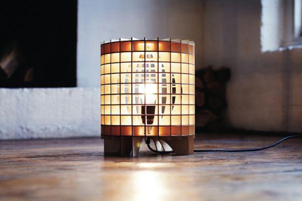 Напольный светильник из фанеры Hemmesphere