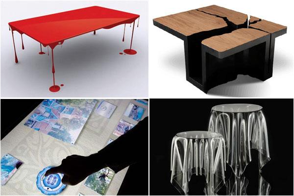 Креативные и необычные идеи для дизайна столов