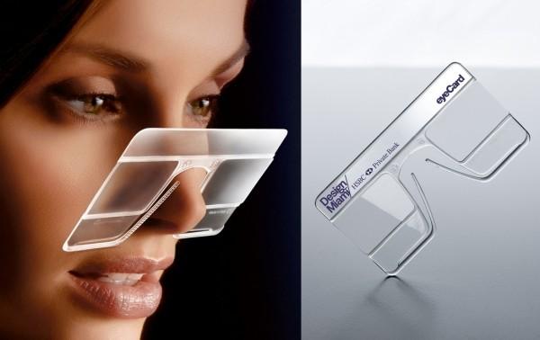 EyeCard - пластиковые очки размером с банковскую карту