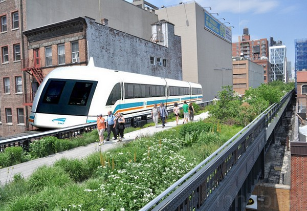 Минитрамвай для High Line Park в Нью-Йорке