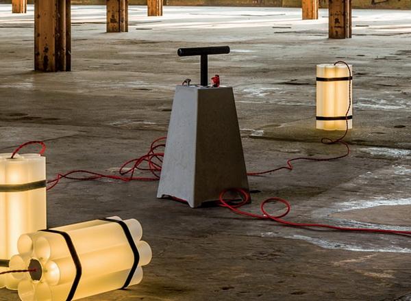 Mister Boom и Miss Dynamite: светильники в виде динамита