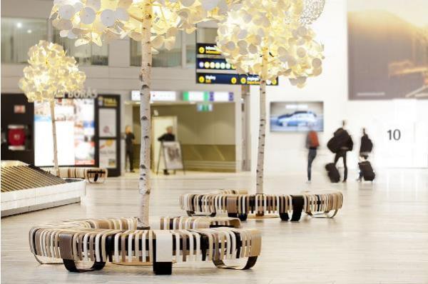 Светильники идеально подходят для просторных фойе