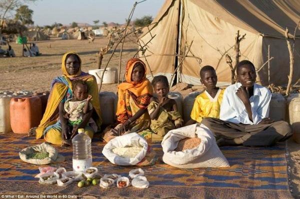 Семья из Судана, 1,23 $ в неделю