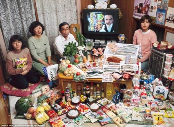 Семья из Японии, тратит 317,25 $ в неделю