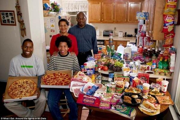 Семья из Северной Каролины, тратит 341,98 $ в неделю
